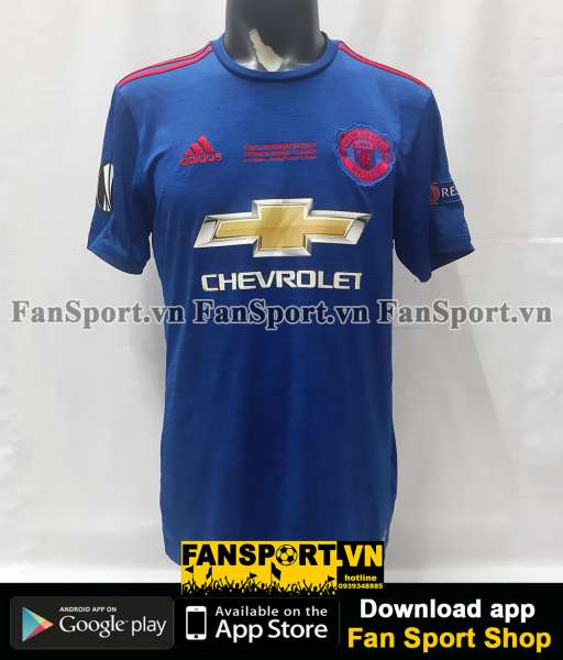 Áo đấu Manchester United Europa League final 2017 away shirt blue 2016