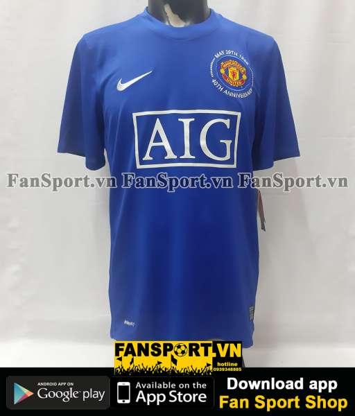Áo đấu Manchester United 2008-2009 third shirt jersey blue BNWT