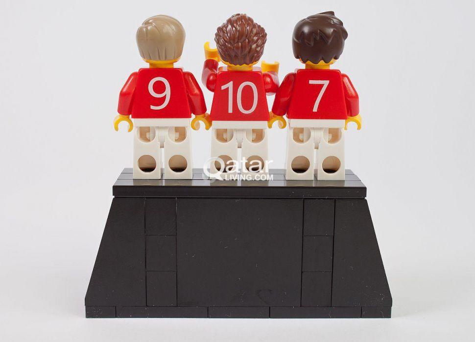 Lego Trinity Manchester United George Best Bobby Charlton Dennis Law