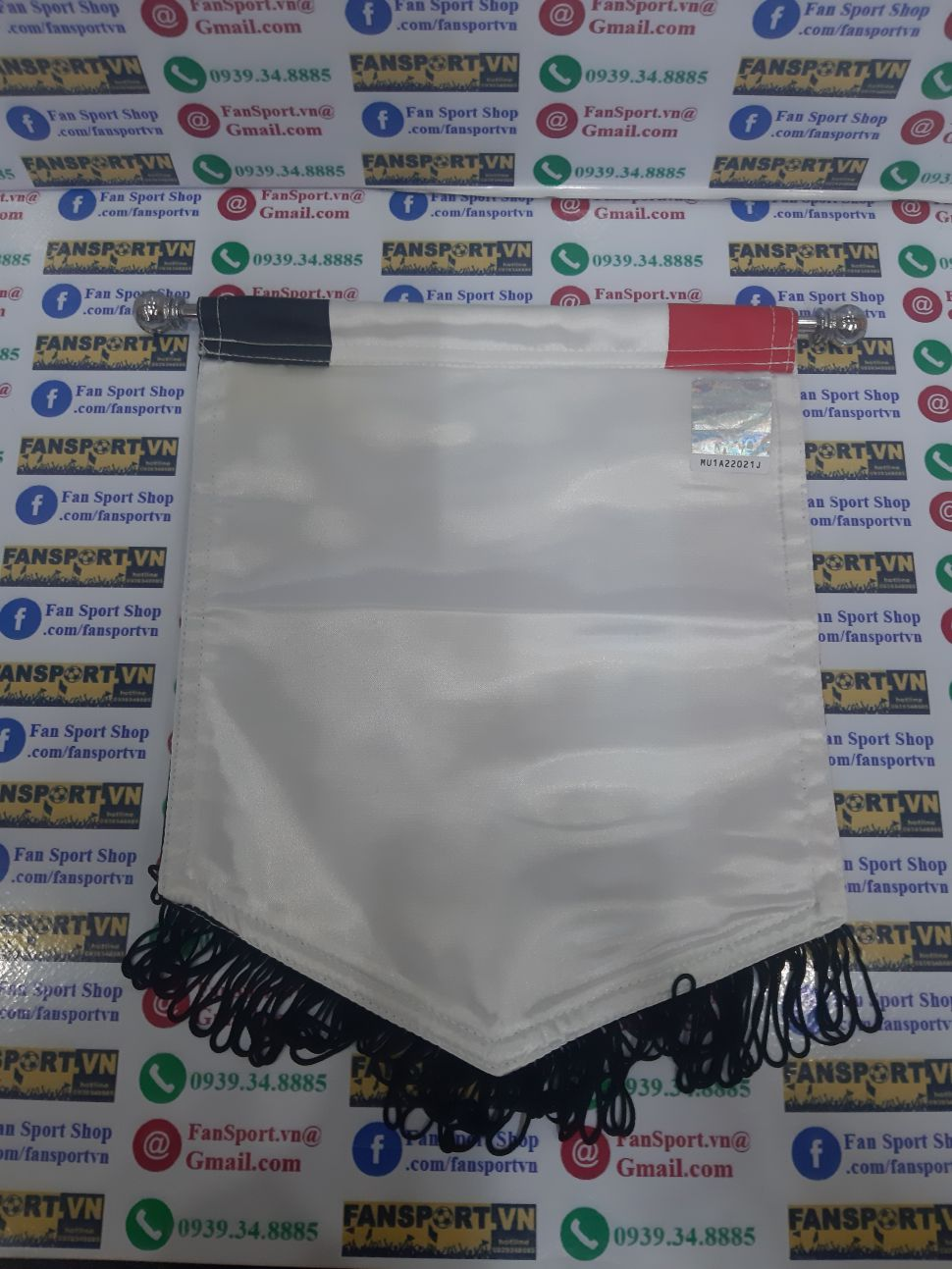 Cờ Manchester United chữ ký O'Shea 22 pennant tem COA sign