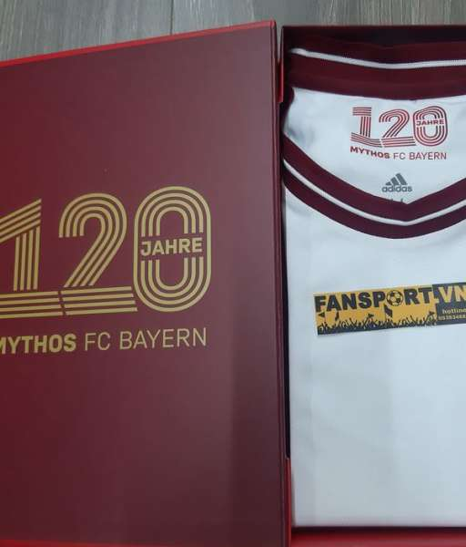 Box áo Bayern Munich 120th year Anniversary 2020 adidas limited shirt