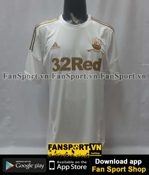 Áo đấu Swansea City 2012 2013 home white shirt jersey