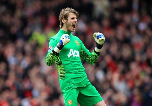 Áo De Gea #1 Manchester United 2011-2012 home goalkeeper green