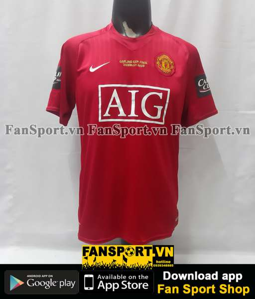 Áo Ronaldo 7 Manchester United League Cup Final 2009 home shirt 2008