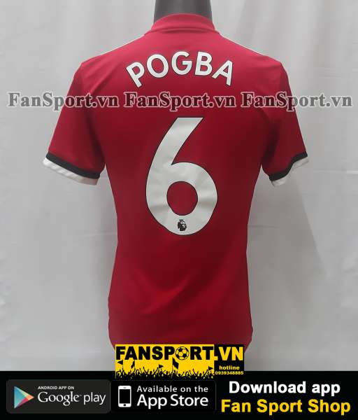Áo đấu Pogba 6 Manchester United 2017-2018 home shirt jersey red