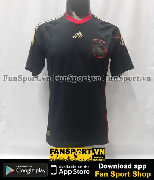Áo đấu Germany World Cup 2010 away shirt jersey black 2009 2011