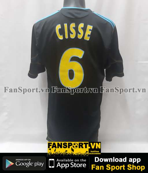 Áo đấu Cisse 6 Marrseille 2010 2011 third shirt jersey black