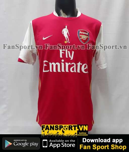 Áo Bergkamp 10 Arsenal testimonial 2006 home shirt jersey 2007 2008 M