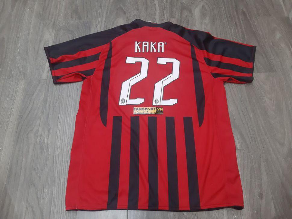 Áo đấu Kaka 22 AC Milan 2007 2008 home shirt red jersey
