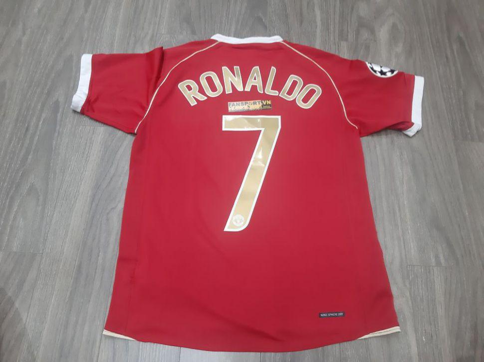 Áo Ronaldo 7 Manchester United 2006 2007 home shirt Champion League