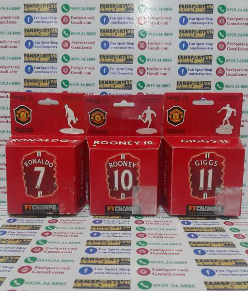 Set Ronaldo Rooney Giggs Manchester United 2007 2008 2009 FT Champs