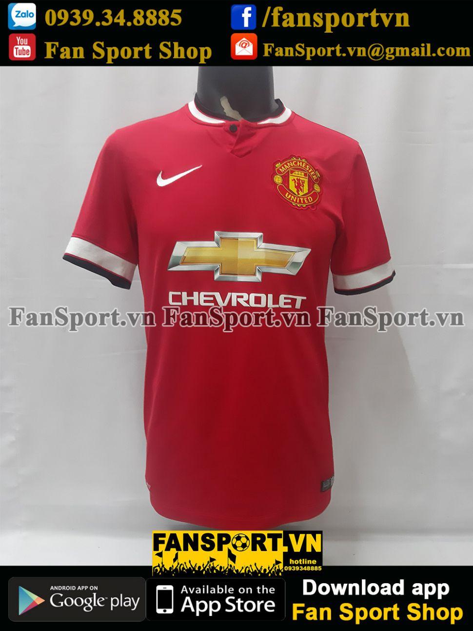 Áo đấu Manchester United 2014-2015 home shirt jersey red