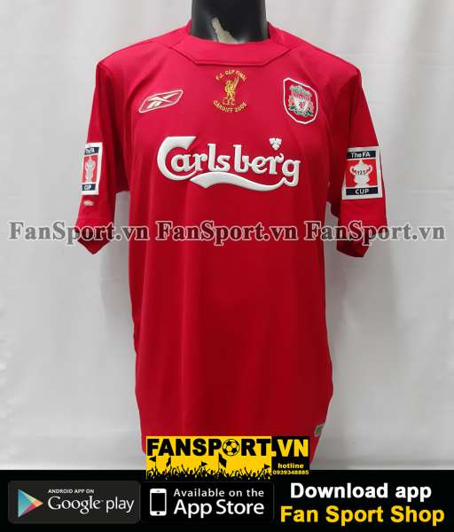 Áo đấu Liverpool FA Cup final 2006 home shirt jersey 2004 2005 red