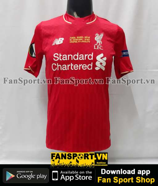 Áo Liverpool Europa League Final 2016 home shirt jersey red 2015