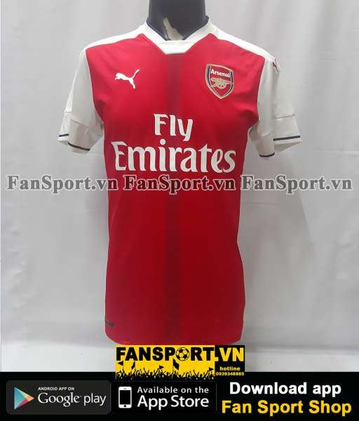 Áo đấu Arsenal 2016-2017 home shirt jersey red