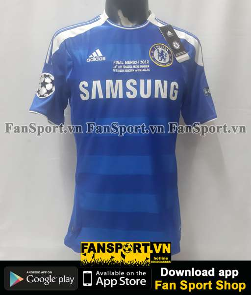 Áo đấu Chelsea Champion League Final 2012 home shirt jersey 2011 BNWT