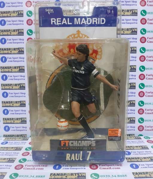 Tượng Raul 7 Real Madrid 2005 2006 away black FT Champs series 4-4-2