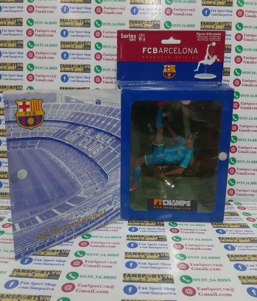 Tượng Ronaldinho 10 Barcelona 2007 2008 away blue FT Champs series WM