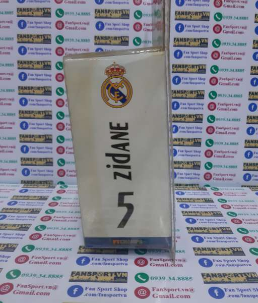 Tượng Zidane 5 Real Madrid 2005 2006 home white FT Champs series 4-4-2