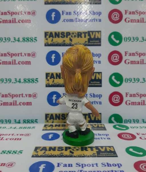 Tượng Beckham #23 Real Madrid 2003-2004 home white pocket sport