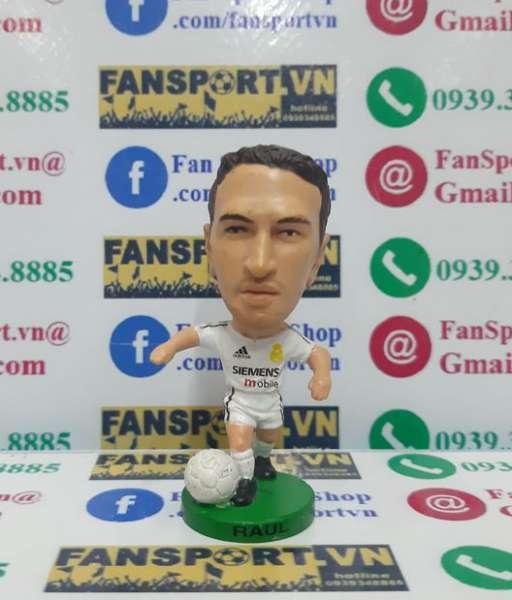 Tượng Raul Gonzalez 7 Real Madrid 2003-2004 home white pocket sport