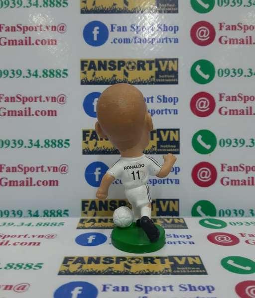 Tượng Ronaldo #11 Real Madrid 2002-2003 home white pocket sport