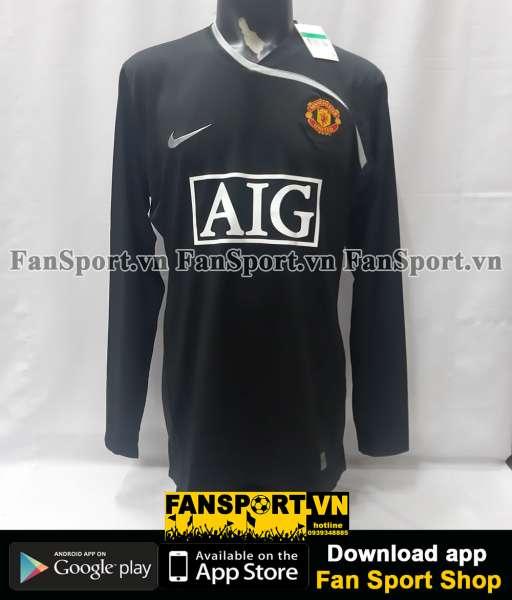 Áo thủ môn Manchester United 2008-2009 third goalkeeper black GK XL