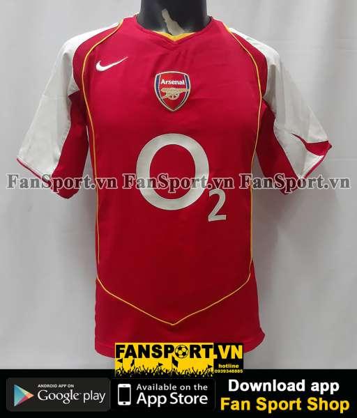 Áo đấu Arsenal 2004 2005 home shirt jersey red