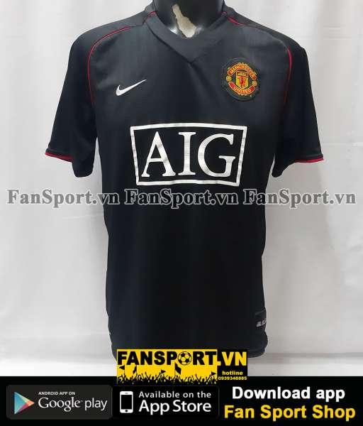 Áo đấu Manchester United 2007-2008 away shirt jersey black
