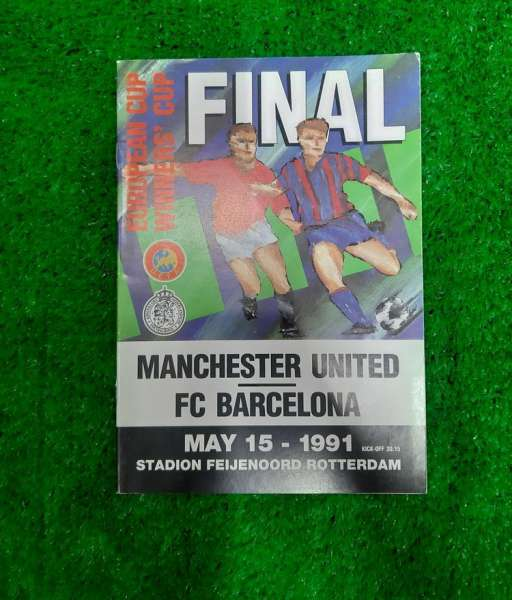 Programme Cup Winner Cup Final 1991 Manchester United vs Barcelona