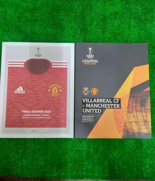 Programme Europa League Final 2021 Manchester United Villarreal poster