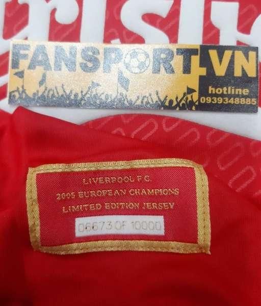 Box áo Liverpool Champion League Winner 2005 home shirt 06673 limited