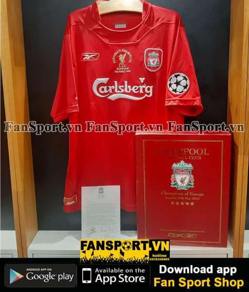 Box áo Liverpool Champion League Winner 2005 home shirt 08973 limited