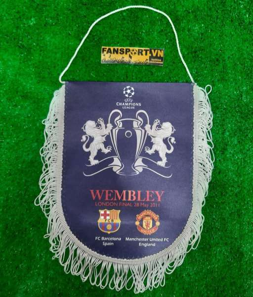 Pennant Champion League Final 2011 Wembley Manchester United Barcelona