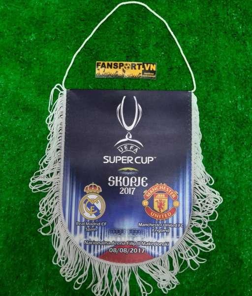 Pennant UEFA Super Cup Final 2017 Skopje Manchester United Real Madrid