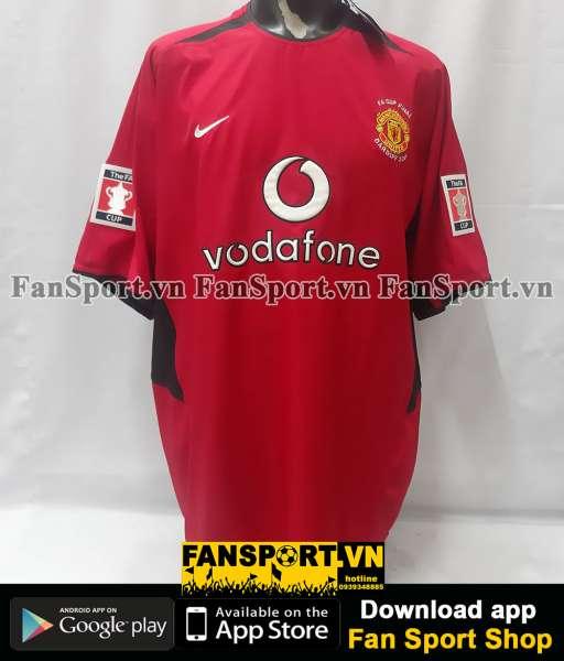 Áo đấu Manchester United FA Cup Final 2004 home shirt jersey 2002 2004