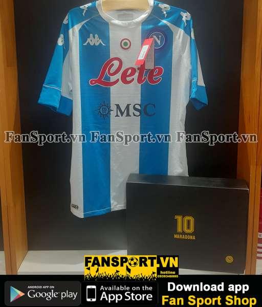 Box Diego Maradona 10 Napoli 2020-2021 home shirt jersey Kappa limited