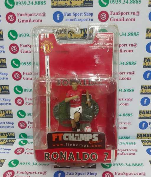 Tượng Ronaldo 7 Manchester United 2007 2008 2009 FT champs 3in