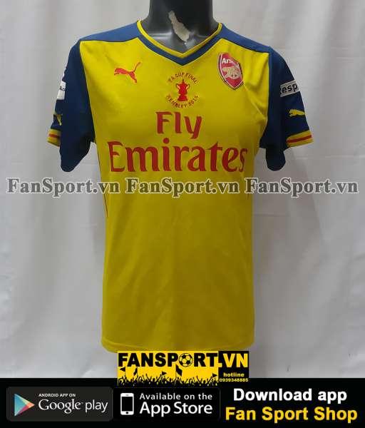 Áo đấu Arsenal FA Cup Final 2015 away shirt jersey yellow 2014