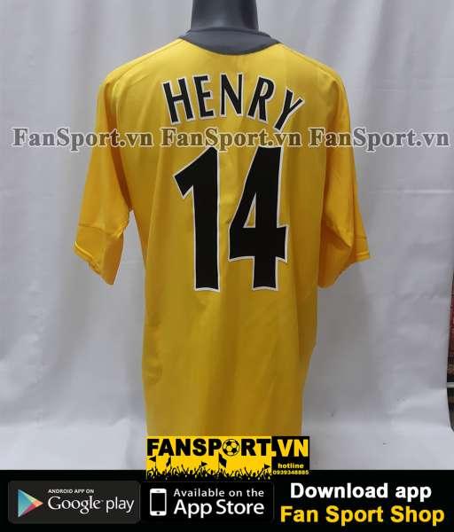 Áo đấu Henry #14 Arsenal Champion League final 2006 away shirt jersey
