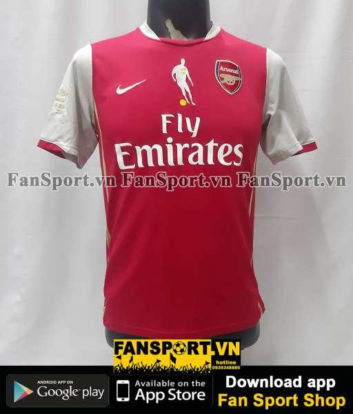 Áo Bergkamp 10 Arsenal testimonial 2006 home shirt jersey 2007 2008