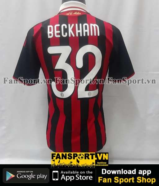 Áo đấu Beckham #32 AC Milan 2009-2010 home shirt jersey red