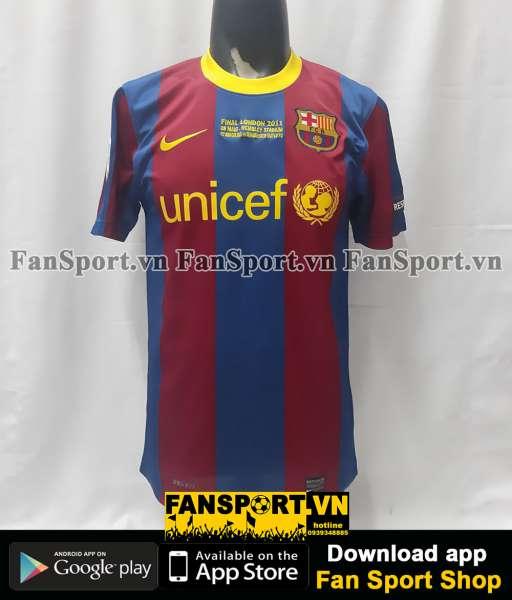 Áo đấu Barcelona Champion League Final 2011 home shirt jersey 2010