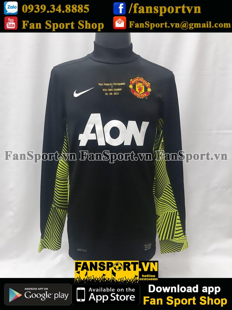 Áo De Gea 1 Manchester United Testimonial Scholes 2011 shirt 2012 GK