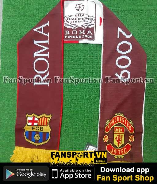 Khăn Champion League Final 2009 Barcelona ManUtd brown scarf