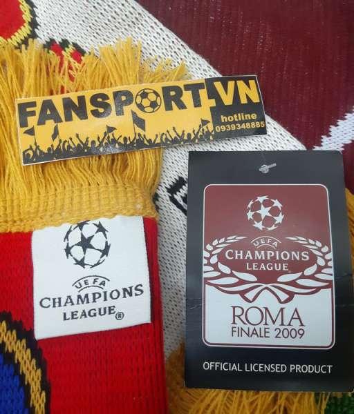 Set Champion League Final 2009 Barcelona ManUtd brown cap scarf medal