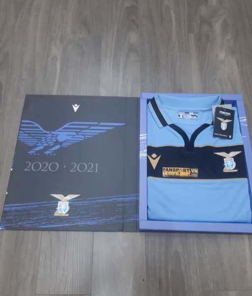 Box áo Lazio 2020-2021 Champion League home shirt jersey blue limited