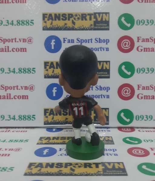 Tượng Rivaldo 11 AC Milan 2002 2003 home corinthian PRO712 black red