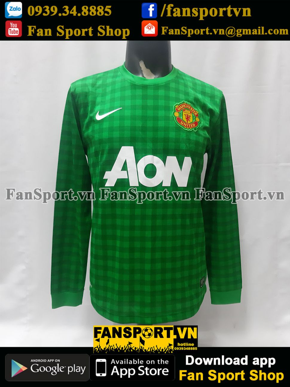 Áo thủ môn Manchester United 2012-2013 home goalkeeper shirt jersey M