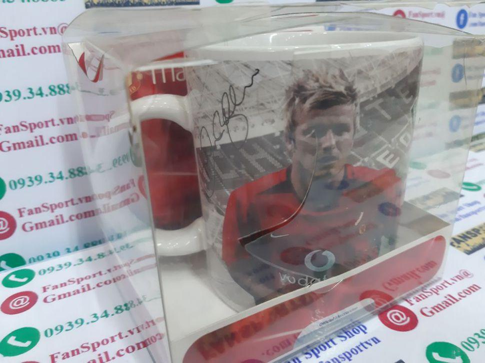 Ly nước hình David Beckham 7 Manchester United 2002 2003 2004 home cup